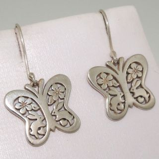 James Avery Retired Rare Butterfly Bunny Flower Heart Earrings