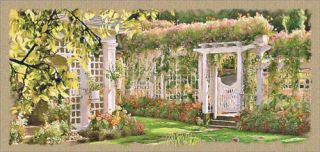 Jardin Picture Tapestry Wall Hanging Buchart Garden