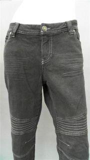 Womens Stretch Color Denim Skinny Jean 14 Sz Dark Gray Sale