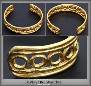 Jean Mahie 22K Yellow Gold Cuff Bracelet 65 5 Grams