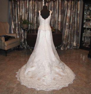 Jasmine Bridal Gown Wedding Dress Size 10 EXC Cond Off Shoulder Dia WH