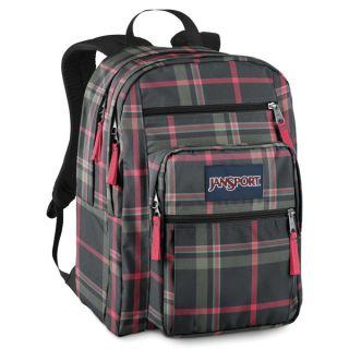New Original Jansport Big Student Backpack Grey TDN7 Laptop Carry Bag