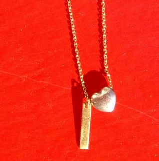 Jeanine Payer Gold Necklace with Silver Gold Pendants 15 5