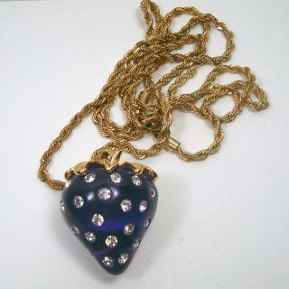 Gorgeous Kenneth Jay Lane Strawberry Rhinestone Necklace