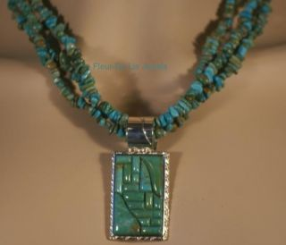 Jay King Mine Finds Chilean Turquoise Necklace Pendant