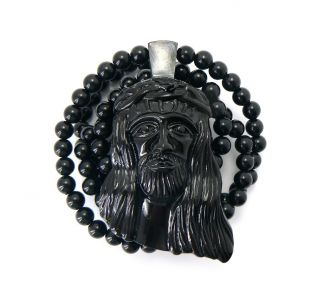 Jay Z Kanye West Black Homaica Jesus Piece Necklace