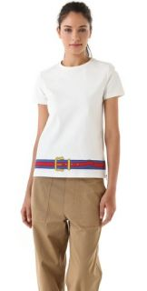 Boy. by Band of Outsiders T Shirt with Belt Hem