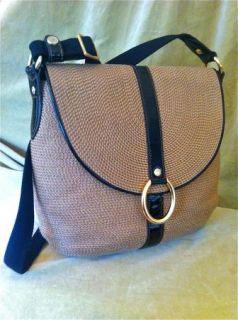 Eric Javits Handbag Woven Squishee Poste Leather Crossbody Bag Purse