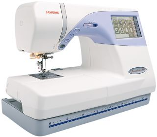 Janome Memory Craft 9500 Computerized Embroidery Sewing Machine + FREE