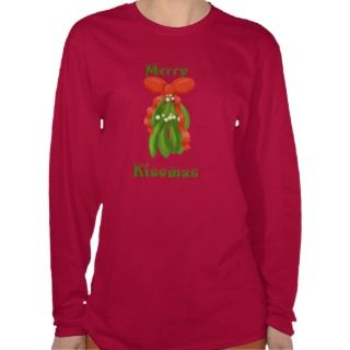 Merry Kissmas Mistletoe Womens Long sleeve Tees