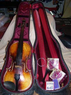 Antique Circa 1700s Joannes Georgius Thir Fecit Viennae Anno Violin w