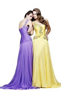 Sherri Hill 1460 Blue Embellished One Shoulder Gown Dress Sz 4 New