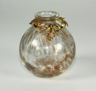 Jay Strongwater Great Gifts Estate Mini Vase Bronze Gold Swarovski New