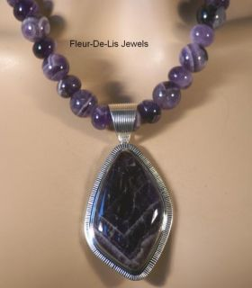 Jay King Mine Finds Cape Amethyst Necklace Pendant Sterling Silver