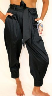 128 Norma Jeane Marilyn Monroe High Waist Cropped Harem Pant Belted