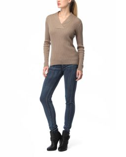 Jeanne Pierre 100 Cable Knit Sweater