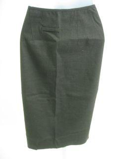 Jean Paul Gaultier Brown Wool Straight Skirt Size 10