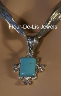 Jay King Mine Finds Kingman Turquoise Pendant