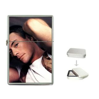 Jean Claude Van Damme Flip Top Lighter Metal Chrome Gi
