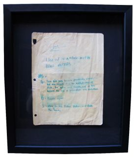 Jean Michel Basquiat I Just Let A Man  Original Ink Drawing 1988