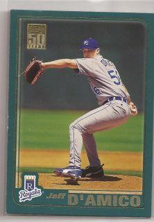 2001 Jeff M DAmico Topps Card 459 Kansas City Royals