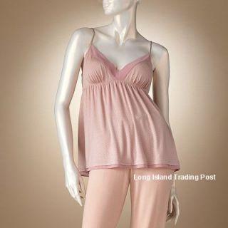Jennifer Lopez JLO Rose Modal Empire Camisole Cami Tank Top Chiffon