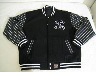 New Jeff Hamilton JH Design New York Yankees Wool Leather Jacket
