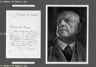 Jean Sibelius Autograph Letter Signed 09 18 1910
