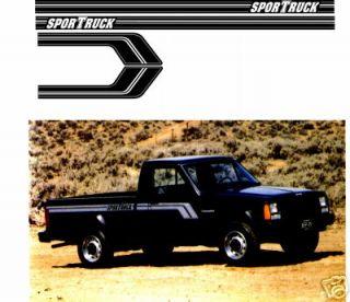 MJ Jeep COMANCHE Pickup Sportruck Stripe Decal