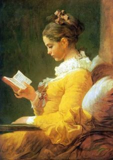 Jean Honore Fragonard A Young Girl Reading   Classic Art