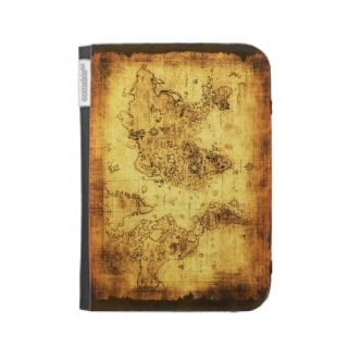 Vintage Old World Map Designer Kindle Case