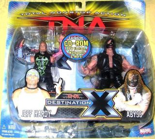 Nonstop Destination x Jeff Hardy vs Abyss Action Figure 2 Pack