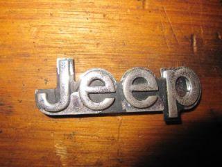 Jeep J20 J10 Tail Gate Badge Logo Emblem Wagoneer CJ