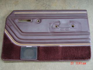 Jeep Grand Wagoneer Burgundy Right Front Door Panel Passengers Side