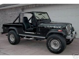 Jeep CJ 8 Scrambler Hood Decals Black