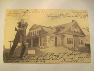 Rare Vintage 1907 Golf Golfer Kent Country Club Grand Rapids MI