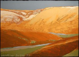 James Conaway Jemez Springs Hand Signed Fine Art Lithograph Rocks