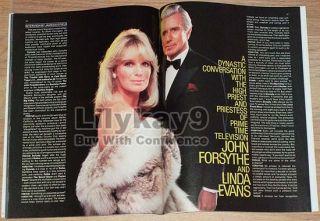 Kelly Lebrock Madonna Dynasty Linda Evans John Forsythe Mel Gibson