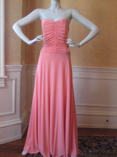 New Jessica McClintock Strapless Salmon Formal Bridesmaid Prom Dress