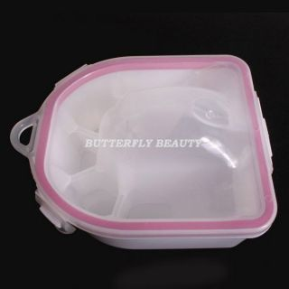 Double Deck Nail Art Hand Remove Wash Soak Bowl D23