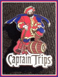 Jerry Garcia Captain Trips Grateful Dead Concert Poster Art Pin Morgan