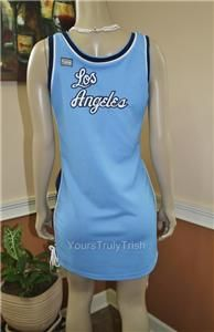 La Los Angeles Lakers Blue NBA Classic Jersey Dress Sz XL Sexy Side