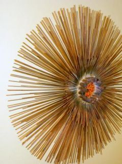 Copper Metal Wall Sculpture Mid Century Modern Eames Jere