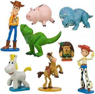 Disney Toy Story 3 Heroes PVC Figurine Figure Playset Woody Jessy Cake