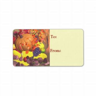 Fall Thanksgiving Harvest Gift Tag Personalized Address Label