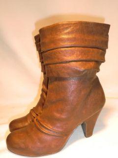 Jessica Simpson Slouch Short Brown Fashion Boots Sz 6 5 Cornelia