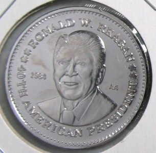 Ronald Reagan Double Eagle Coin Commemorative Silver Medal
