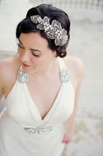 Jenny Packham Silver Crystal Acacia II Bridal Evening Headpiece