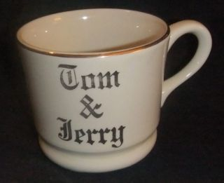 VINTAGE HALL~ TOM & JERRY CUP TRIMMED IN GOLD EUC