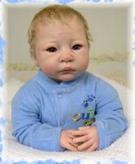 REBORN BABY BOY DOLL *JEREMIAH* BY ADRIE STOETE   NO RES BRIAR HILL